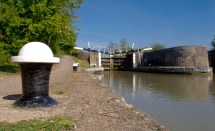 Dog's eye view of Bascote Lock 17