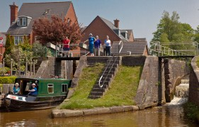 A group of friends from Darton, Barnsley at Lock 62, Malkin's Bank