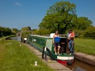 Ann and Paul from Caerphilly in their nb Selinova at Bosley Locks