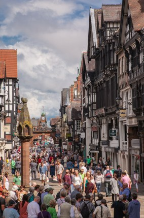 View along Eastgate Street from its junction with Bridge Street.
