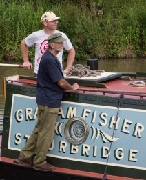 Graham Fisher's boat but the famous CRT supporter and Stourbridge larger-than-life character is not here