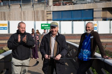 Ribbon cutting ceremony with, Left to Right - Dean Davies, Tony Hales, Mike Wooding
