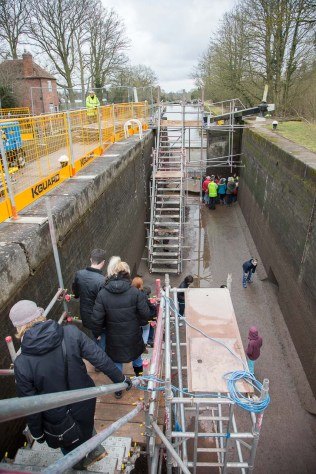 Descending into the bowels of the lock was easier than expected.