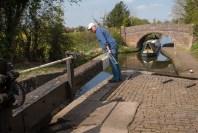 Curdworth Lock 8 with Double Bridge beyond.