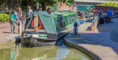 Leaving Banbury Lock 29 to enter the main shopping area.