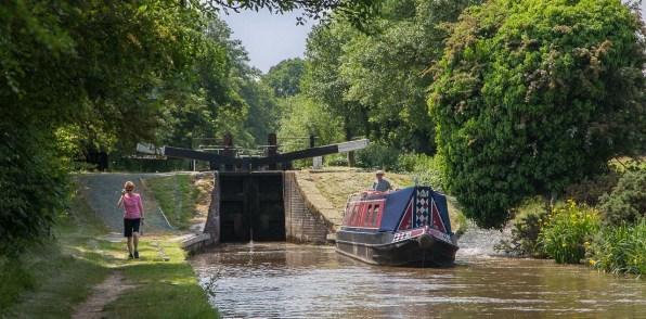 Lock 9 viewed from Baddiley Bridge 14