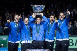 Argentina celebra Copa Davis
