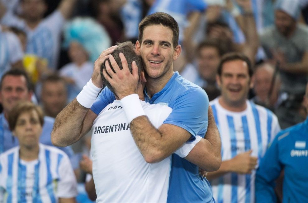 Delpo y Orsanic ex-tenista Davis Cup