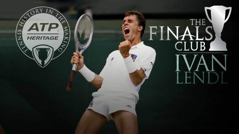 Ivan Lendl celebra una victoria