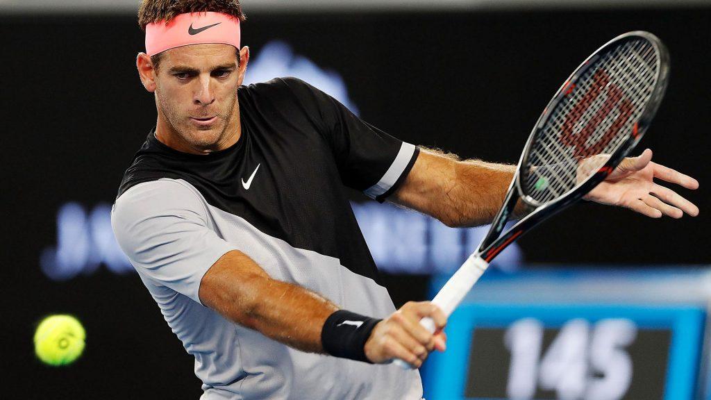 Del Potro corta un revés en el Open de Australia