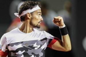 Fognini celebra un punto en el Rio Open