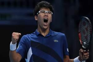 Chung celebra una victoria en las Nitto ATP Finals