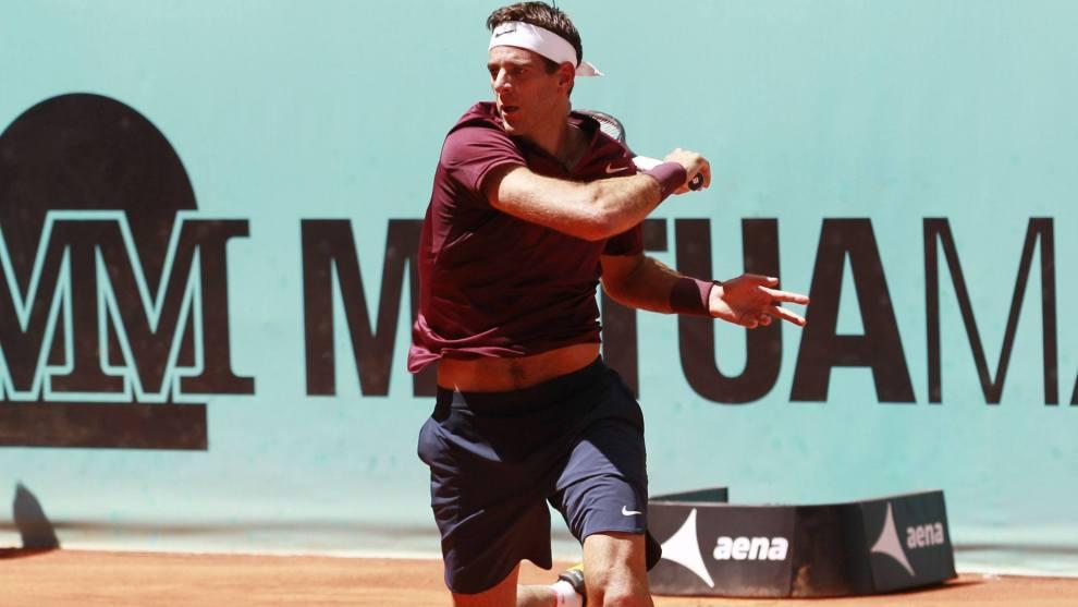 Del Potro en el Mutua Madrid Open