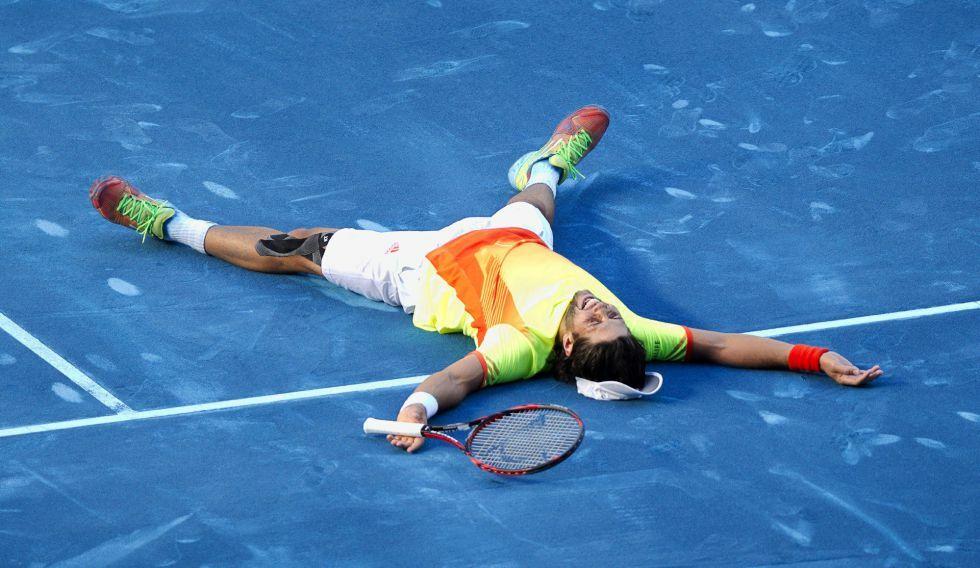 Verdasco celebra un triunfo en el Masters 1000 Madrid