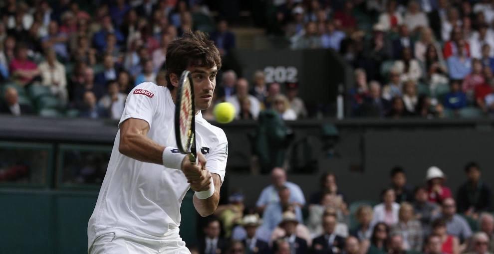 Pella golpea un revés en Wimbledon
