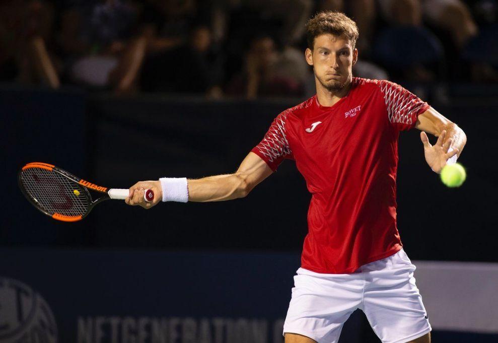 Pablo Carreño golpea una derecha en el ATP de Winstom Salem