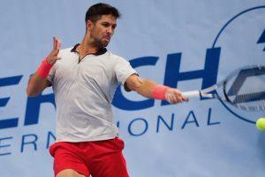 Verdasco golpea una derecha en el ATP de Viena