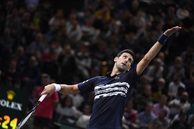 Djokovic Moutet Masters 1000 París 2019