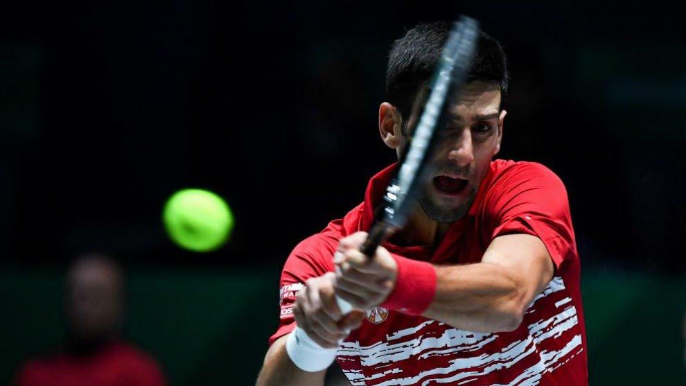 Djokovic Anderson ATP Cup 2020
