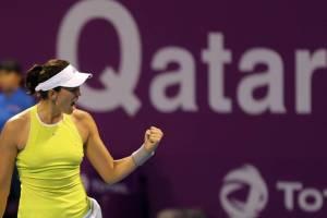 Muguruza Tomljanovic WTA Doha 2020
