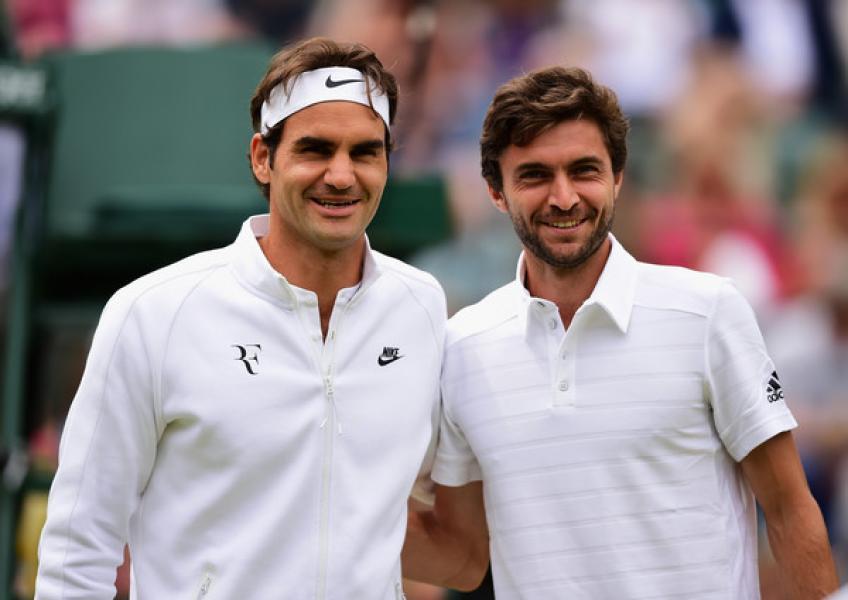 Simon récords Federer