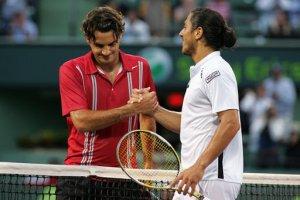 Guillermo Cañas Roger Federer