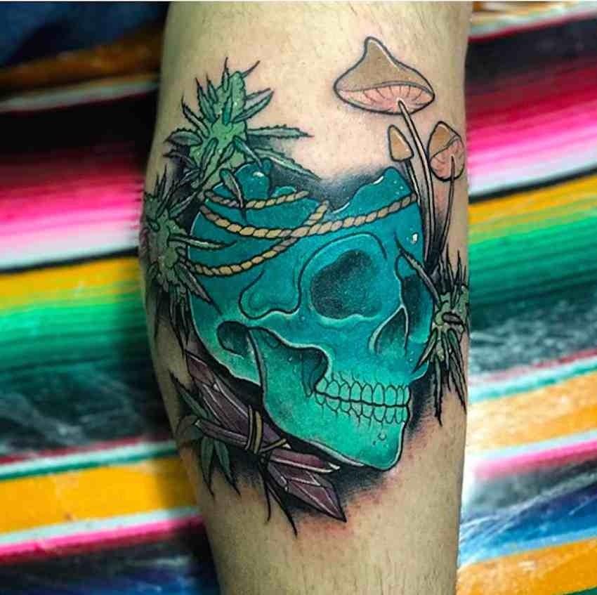 Cáñamo Espectaculares Tatuajes Cannábicos