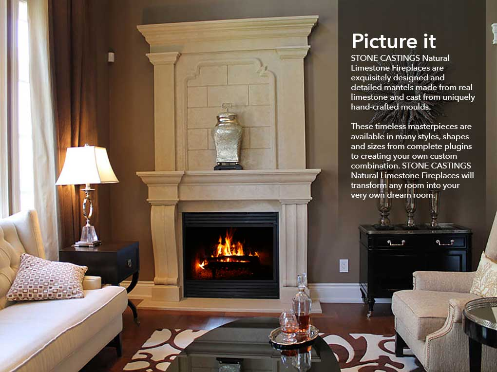 Limestone Fireplaces by Stone Castings - Canamould.com