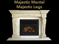 majestic mantel with majestic legs