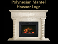 polynesian mantel with hawser legs