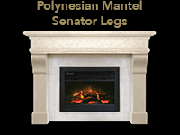 polynesian mantel with senator legs