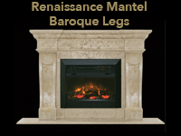 renaissance mantel with baroque legs