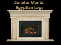 senator mantel with egyptian legs