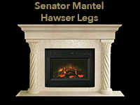 senator mantel with hawser legs
