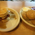 Biscuit and Fried Green 'Maters