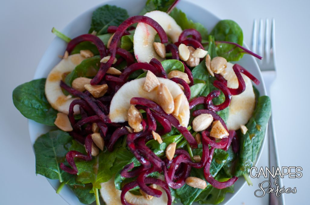 Beet Apple Salad with Marcona Almonds
