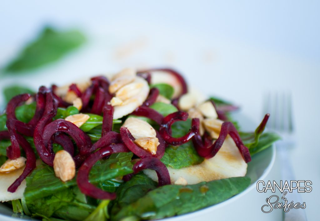 Beet and Apple Salad with Marcona Almonds-4
