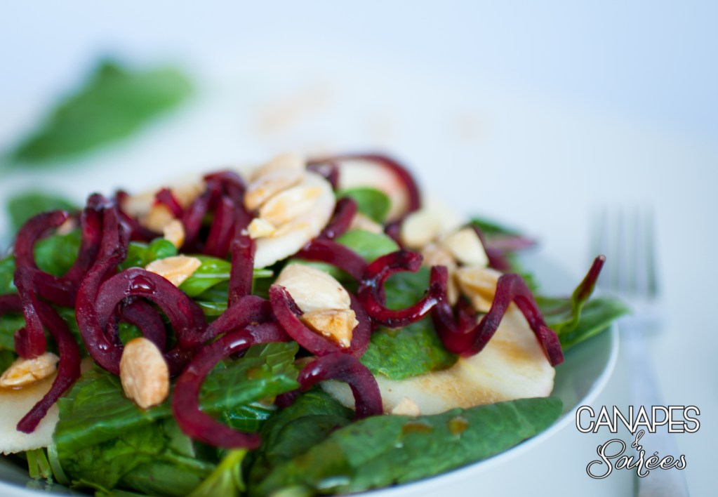 Beet and Apple Salad with Marcona Almonds