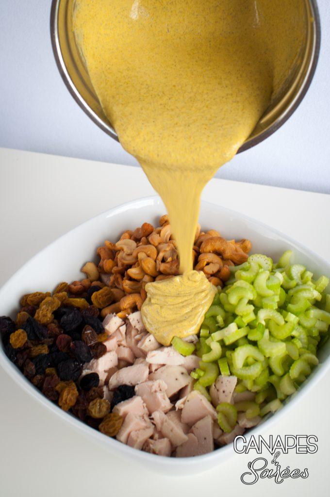 Cashew Raisin Curry Chicken Salad