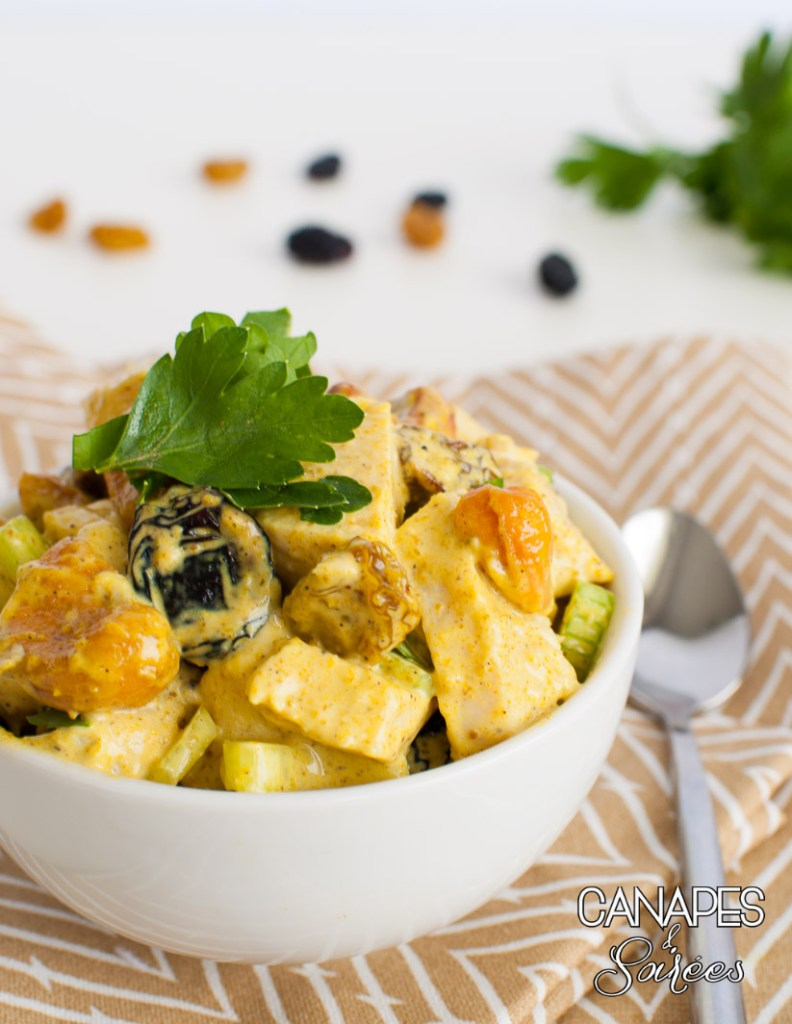 Whole30 Cashew Raisin Curry Chicken Salad