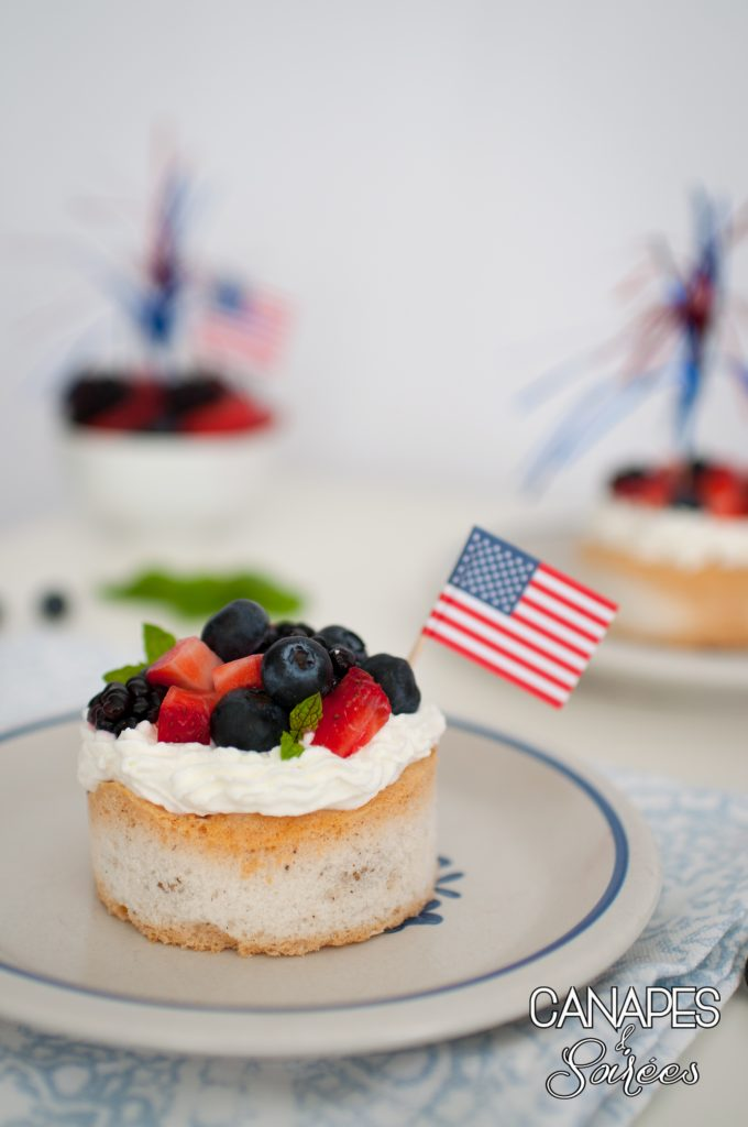 Canapes and Soirees Low Carb Triple Berry Pavlovas with Whipped Cream