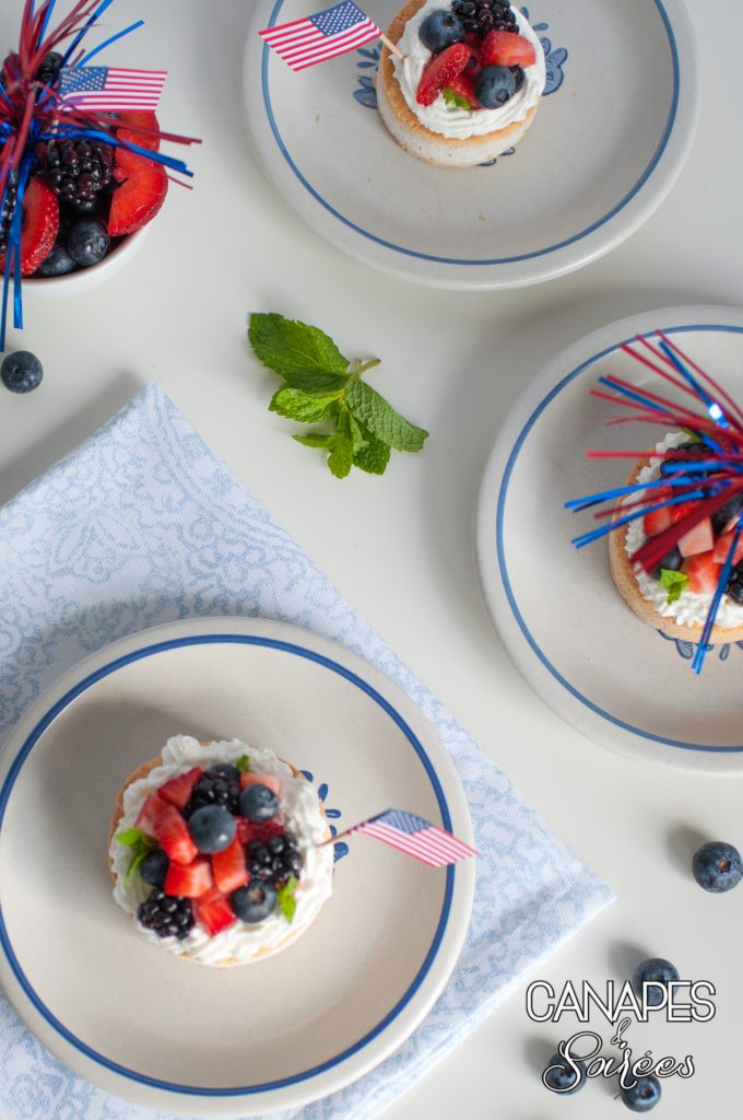 Canapes and Soirees Three Low Carb Triple Berry Pavlovas with Whipped Cream