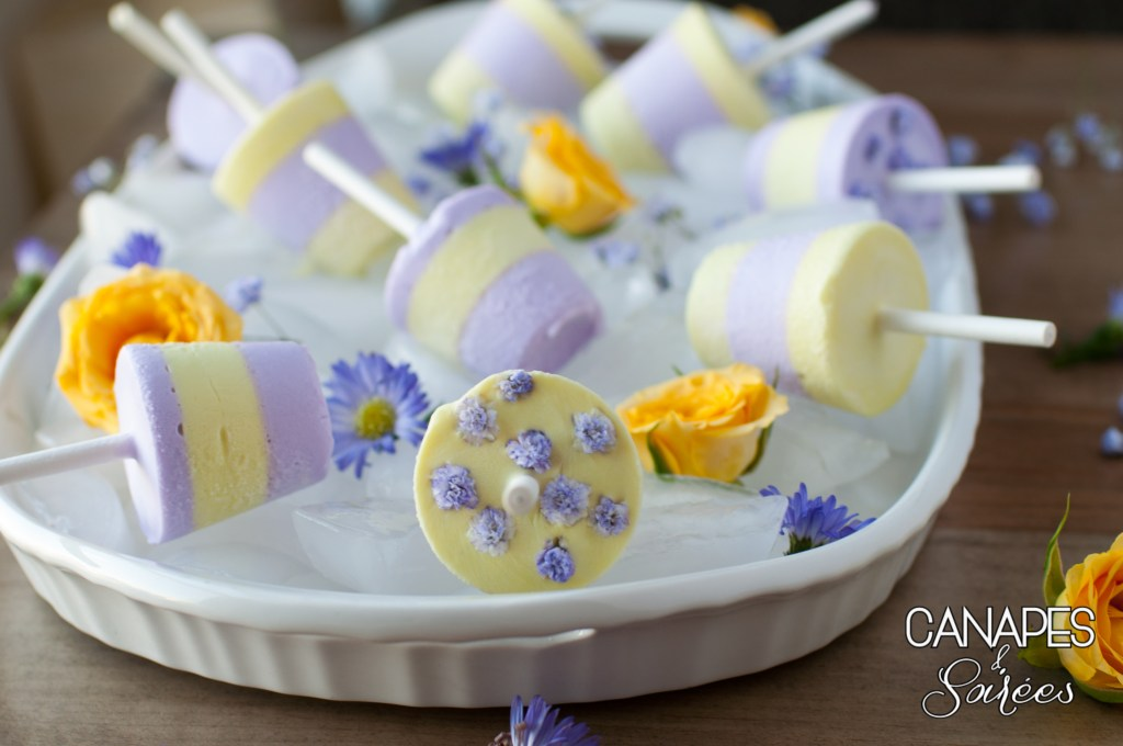 Lemon Lavender Coconut Cream Popsicle Tray