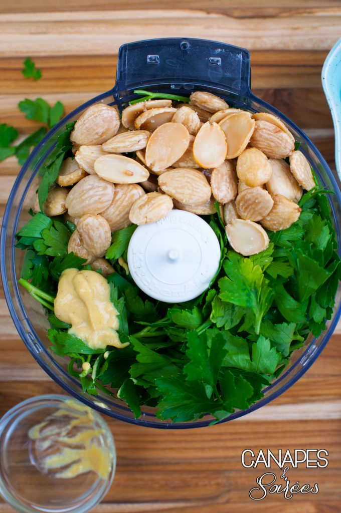 Whole30 Parsley Almond Pesto In The Making