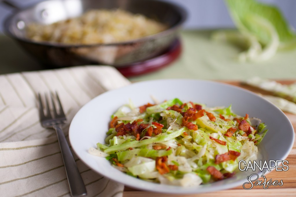 Sauteed Cabbage with Bacon and White Wine Vinegar