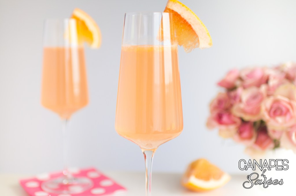 Blushing Grapefruit Rosé Cocktail for two