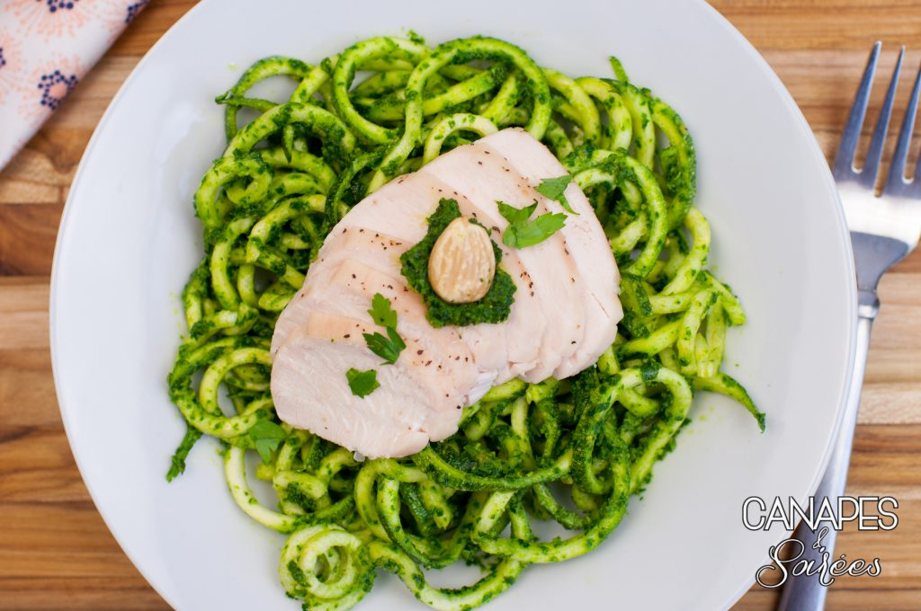 Whole30 Parsley Almond Pesto with Chicken