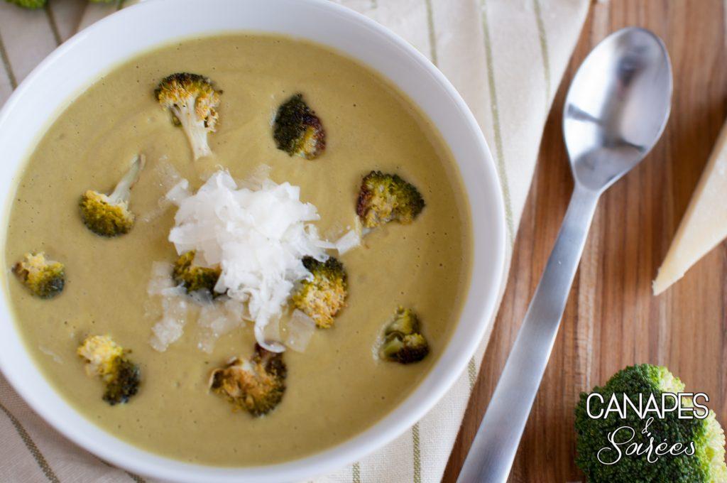 The Best Roasted Broccoli Parmesan Soup