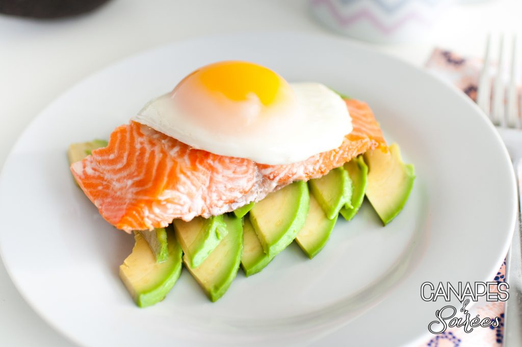 Whole30 Steelhead Trout Avocado Breakfast Stack