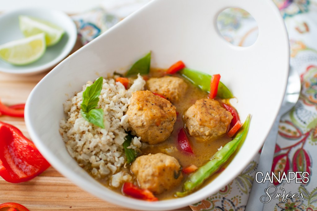 Green Curry Chicken Meatballs – Whole30 & Low Carb